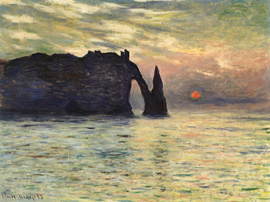 Claude Monet's Cliff at Etretat, Sunset